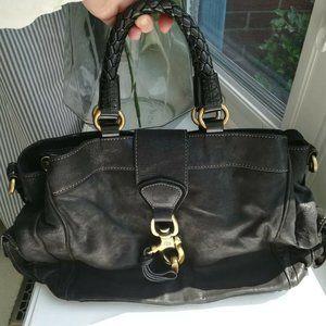 Francesco Biasia large leather bag purse in black